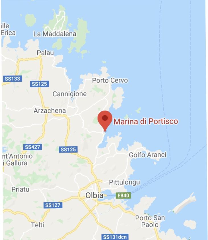 Cartina Sardegna Golfo Aranci.Base Charter Redcarpet
